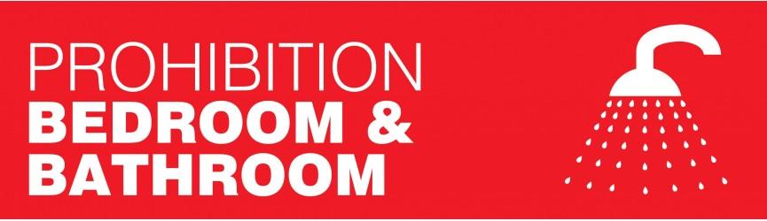 Prohibition Bedroom/Bathroom Notices