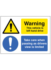 This Vehicle Is Left-hand Drive - Take Care When Passing As Drivers View Is Limited