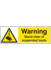 Warning Stand Clear of Suspended Loads