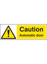 Caution Automatic Door