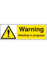 Warning Welding in Progress