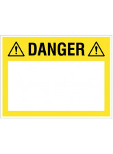 """Small Wipe Clean Board """"Danger (Write your Message)"""""""