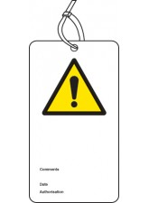 ! - Double Sided Safety Tag (Pack of 10)