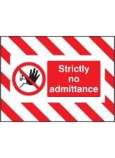 Door Screen Sign - Strictly No Admittance