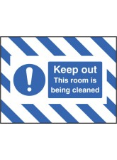 Door Screen Sign - Keep Out - this Room Is Being Cleaned
