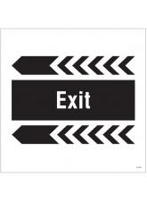Exit - Arrow Left - Site Saver Sign - 400 x 400mm