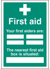 First Aiders the Nearest First Aid BoxIs Situated - Adapt-a-Sign