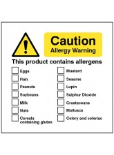 Caution Allergy Warning this Product Contains Allergens