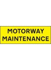 Motorway Maintenance - Reflective Magnetic - 800 x 275mm