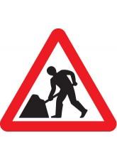 Fold Up Sign - Men At Work Symbol - 600mm Triangle Sign