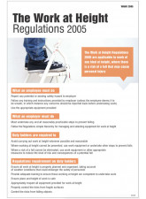 Working At Heights Regulation Poster