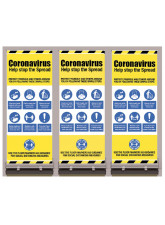 Roll Up Banner with Mandatory Messages - 1m / 2m / Generic Distance Options