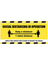Social Distancing Banner - 1m / 2m / Generic Distance Options