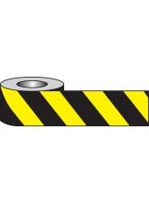 Self Adhesive Hazard Tape - 33m x 50mm - Black / yellow
