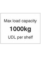 Maxload Capacity 1000kg UDL Per Shelf