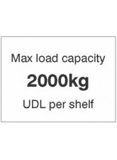 Maxload Capacity 2000kg UDL Per Shelf