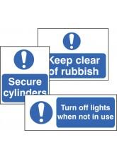 Standard Special Mandatory Sign - Rigid PVC