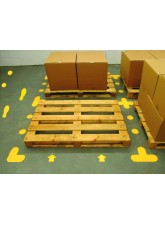 Yellow Floor Signal Markers (T) - 200 x 300mm (Pack of 10) - Yellow