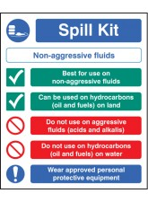 Spill Kit Non-aggressive Fluids
