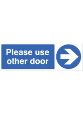 Please use other door - Arrow Right