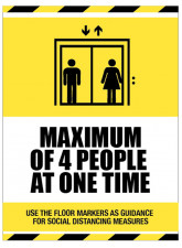 Social Distancing - Maximum of 4 People