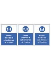 Keep a Safe Distance - 1m / 2m / Generic Distance Options