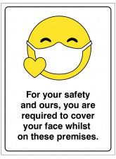 Emoji Icon - Cover your Face whilst on these Premises